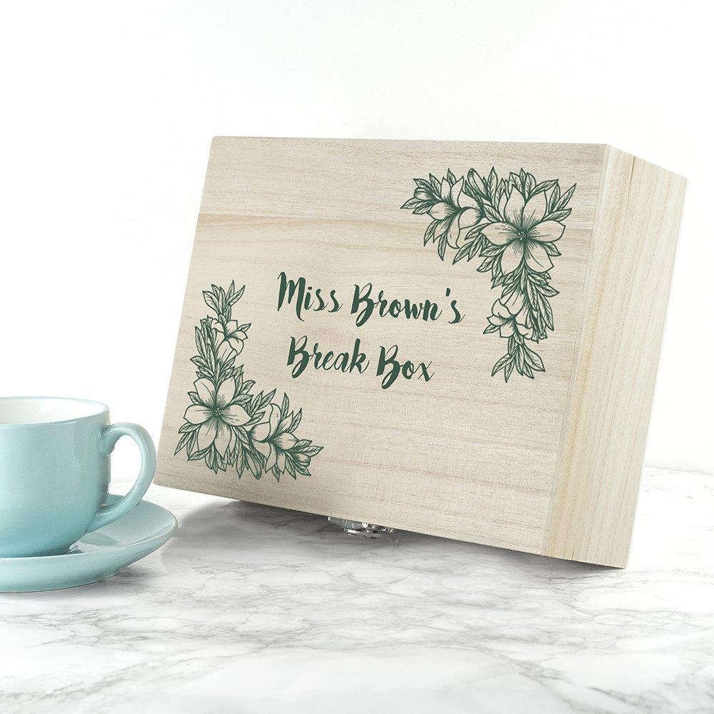 Personalised Tea Box (Floral) – Teacher