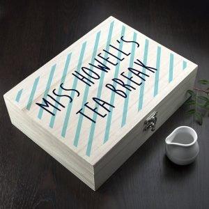Personalised Tea Box (Stripes) – Teacher
