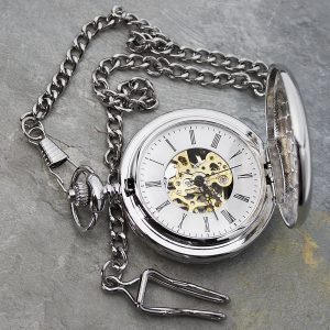 Personalised Pocket Watch – Initials & Message