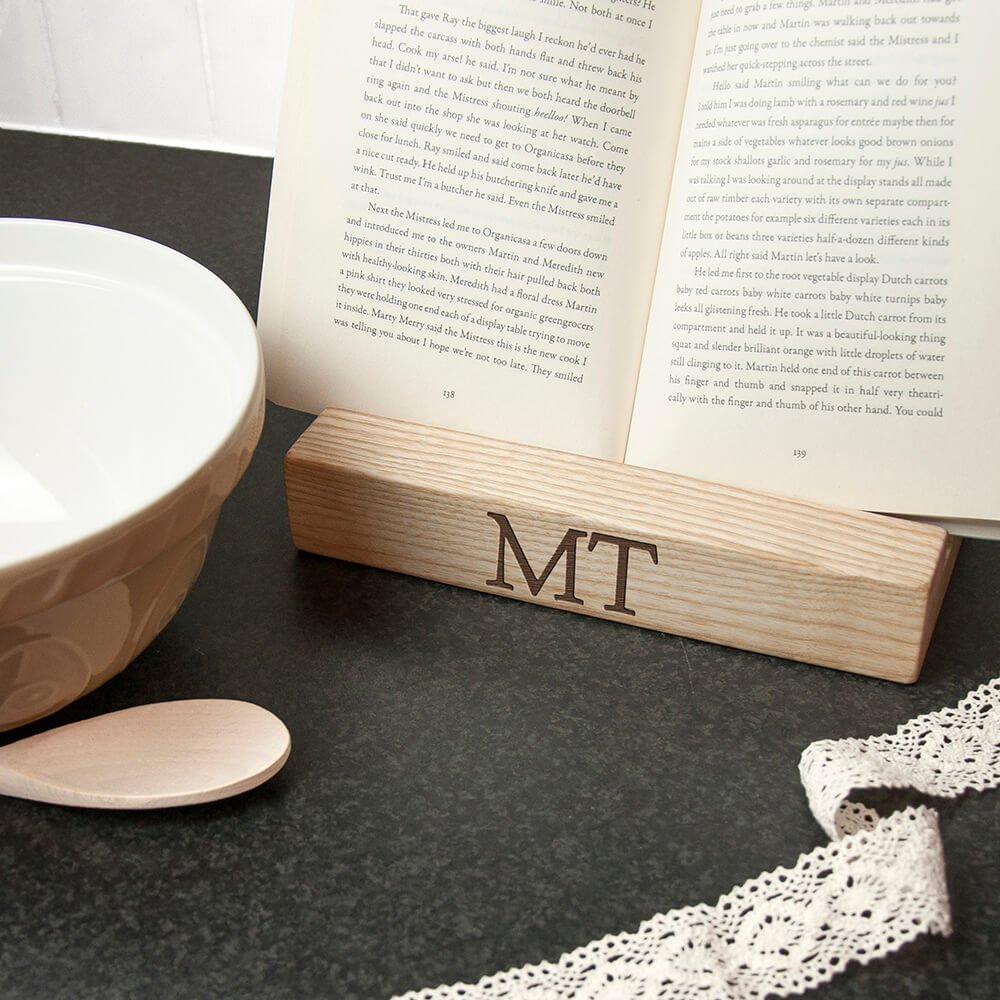 Personalised Tablet or Recipe Book Holder