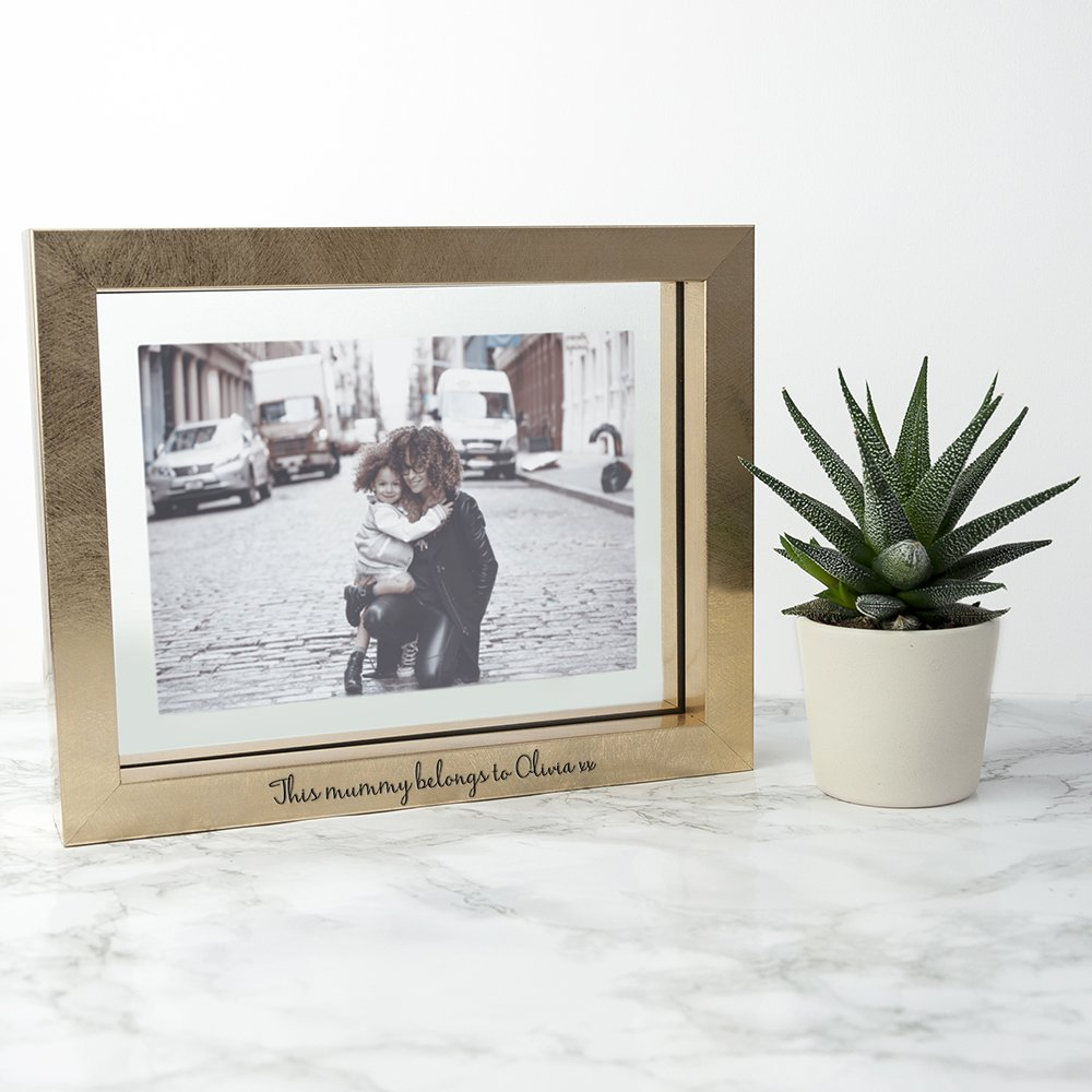 Personalised Gold Photo Frame (21x16cm Photos) – Your Message