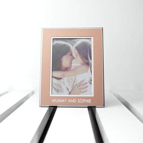 Personalised Rose Gold Photo Frame (8×5.5cm Photos)