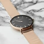 Personalised Ladies Rose Gold Metal Watch – Your Message