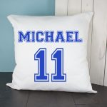 Personalised Cushion Cover – Football Kit