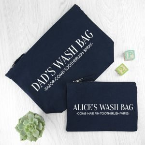 Personalised Wash Bag – Navy – Daddy (and me)