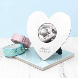 Personalised Heart Photo Frame (Small) – Your Message