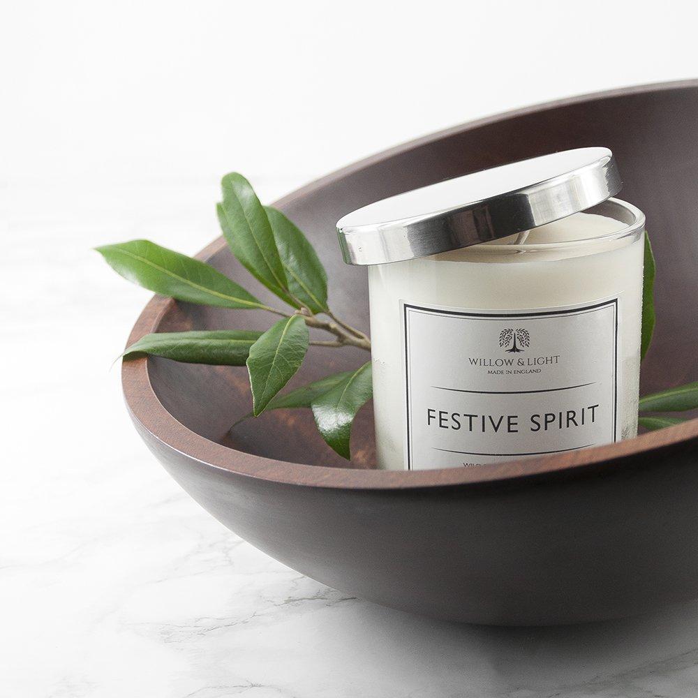 Personalised Festive Spirit Candle