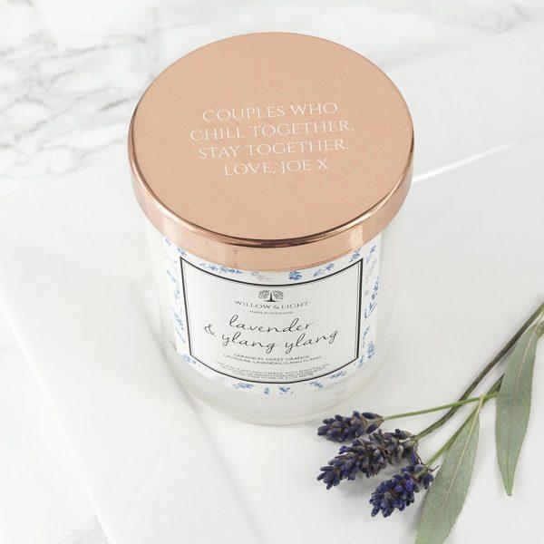 Personalised Lavender & Ylang Ylang Candle