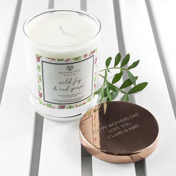 Personalised Wild Fig & Red Grape Candle