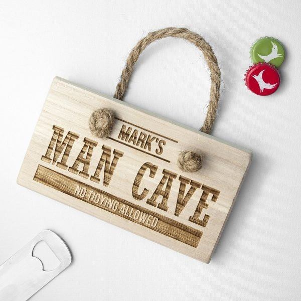 Personalised Wooden Sign – Man Cave