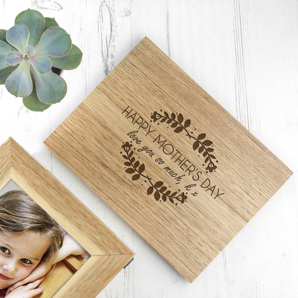 Personalised Oak Photo Keepsake Box – Mother's Day (Medium)