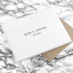 Personalised White Leather Memoriam Book