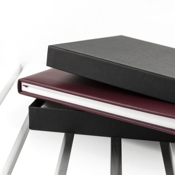 Personalised Burgundy Leather Visitors Book