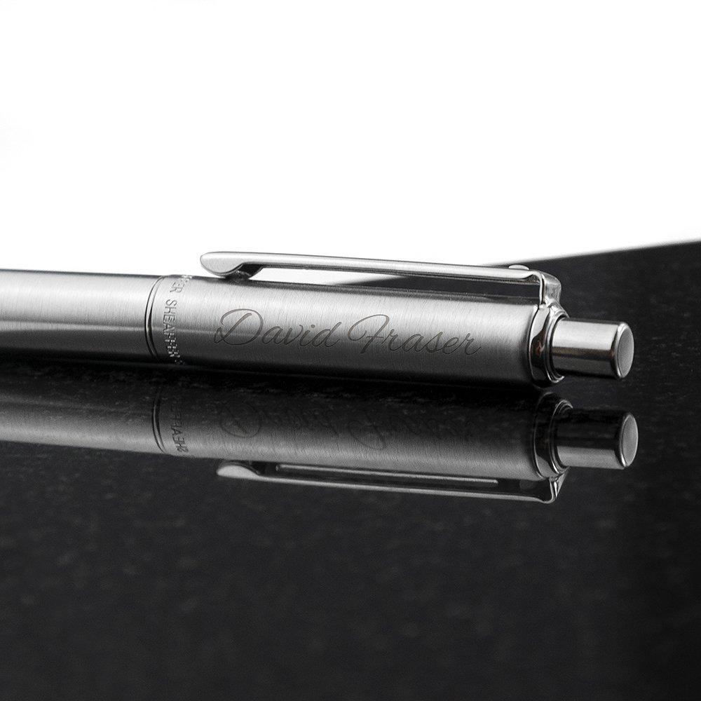 Personalised Sheaffer Brushed Chrome Pen