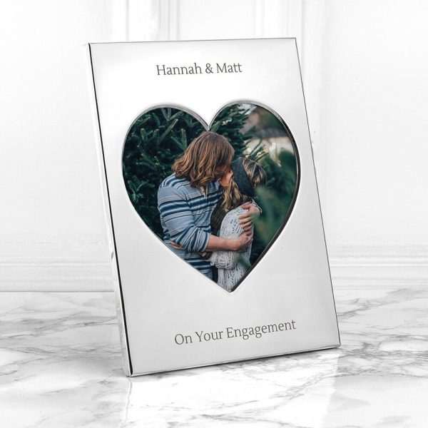 Personalised Heart Photo Frame (Medium) – Your Message