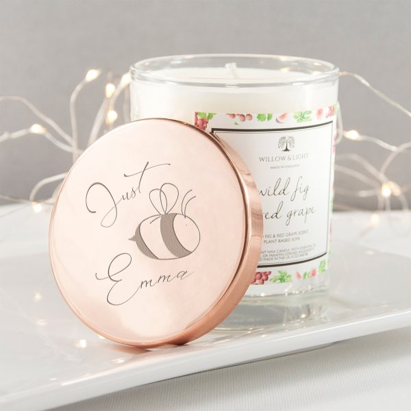 Personalised Candle (Copper) – Bee You