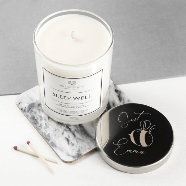 Personalised Candle (Silver) – Bee You