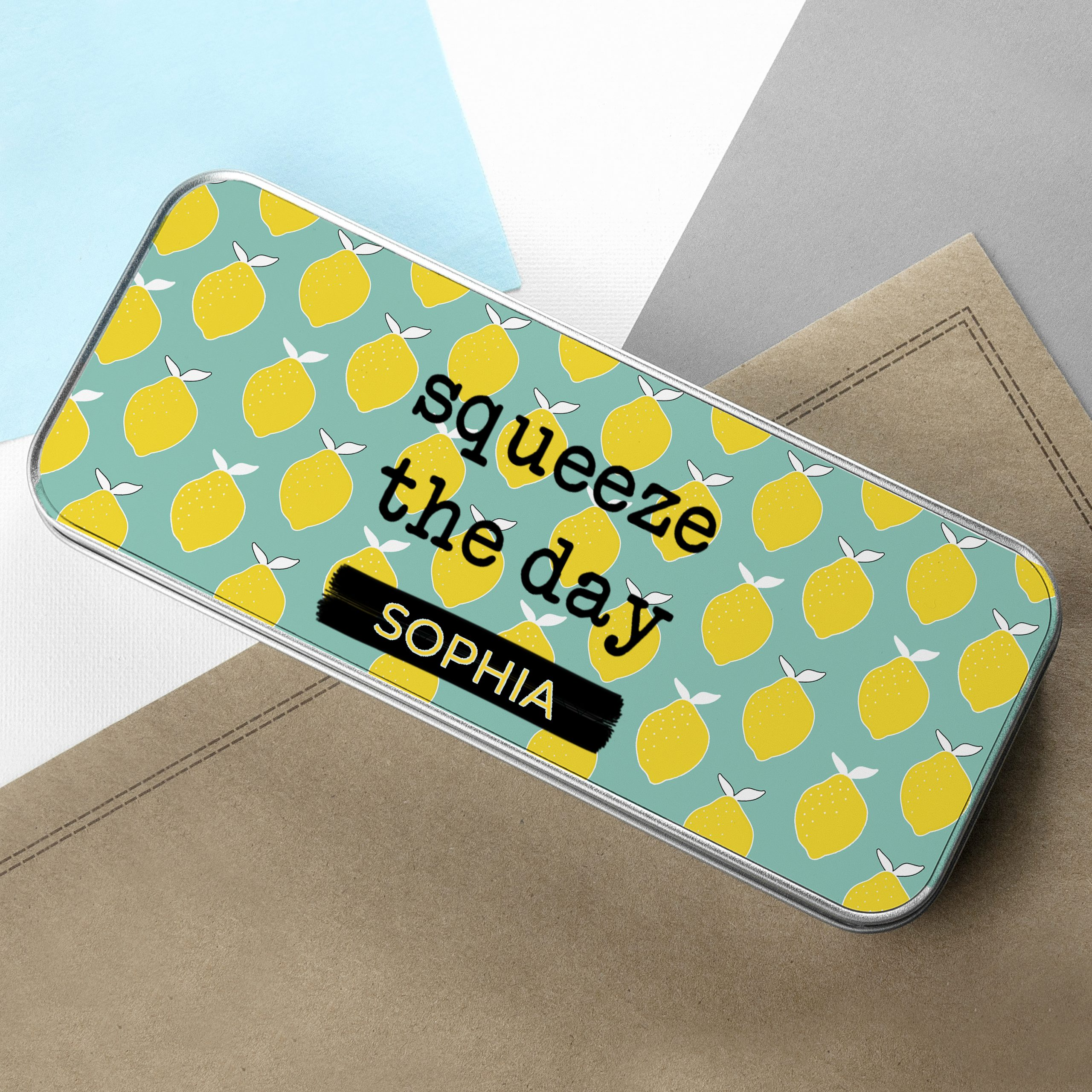 Personalised Squeeze the Day Pencil Case