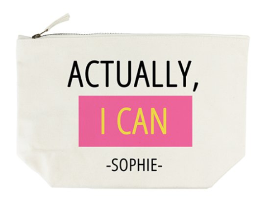 Personalised Wash Bag – Actually I Can