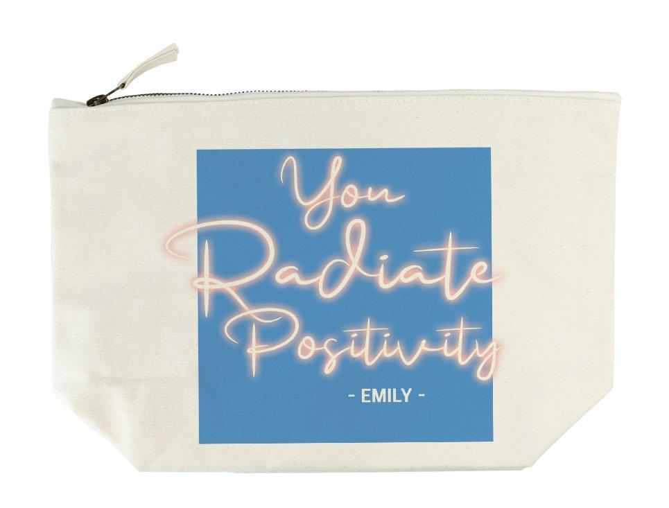Personalised Wash Bag – Radiate Positivity