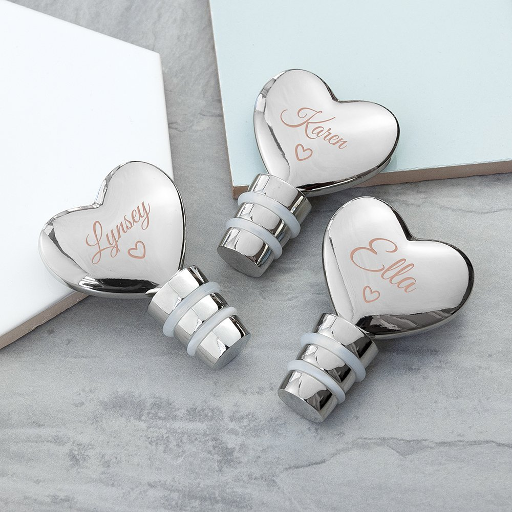 Personalised Love Heart Bottle Stopper