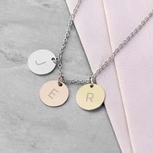 Personalised Matt Discs Necklace – Family