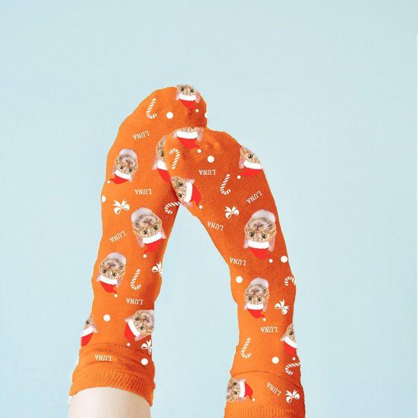 Personalised Pet Christmas Socks – Upload Your Photo