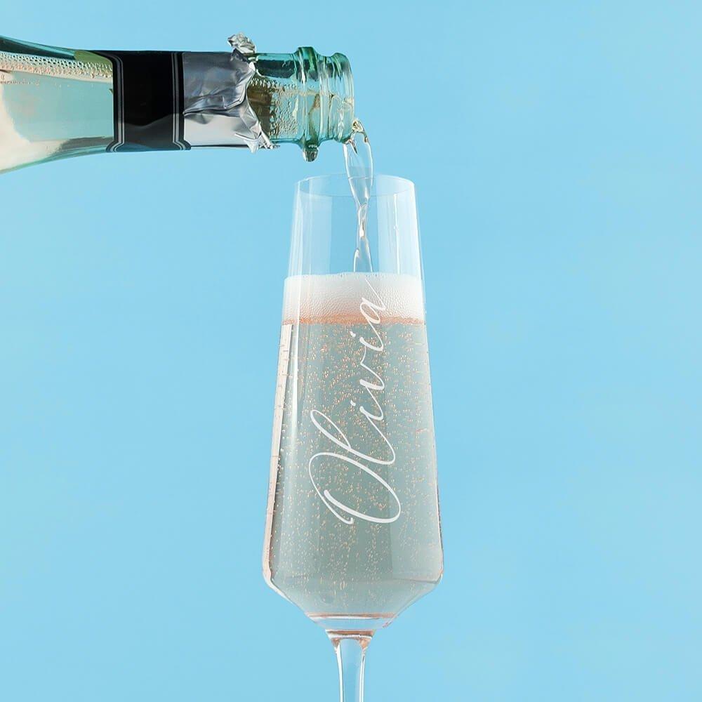 Personalised Elegant Champagne Glass – Name