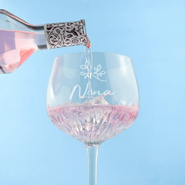 Personalised Crystal Gin Goblet – Name & Icon
