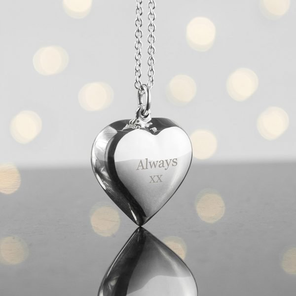Personalised Heart Necklace – Your Message