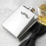 Personalised Hip Flask – Moustache