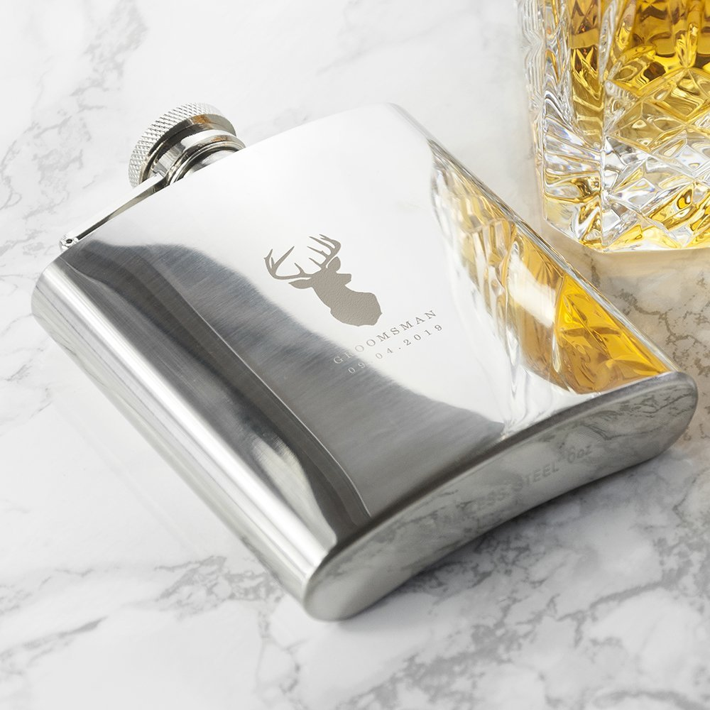 Personalised Hip Flask – Stag