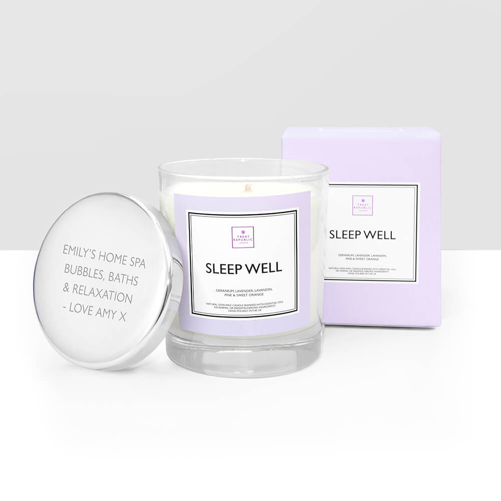 Personalised Sleep Well Candle
