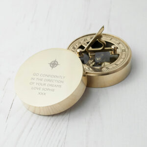 Personalised Iconic Adventurer's Sundial & Compass (Icon)