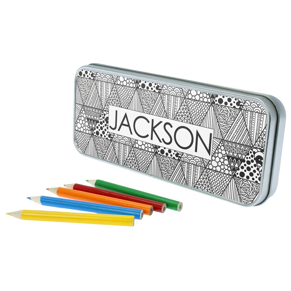 Personalised Abstract Pencil Case