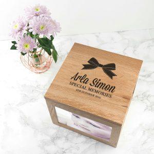 Personalised Oak Photo Keepsake Box – Baby Special Memories
