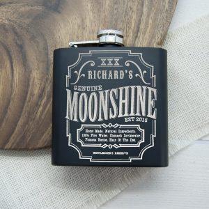 Personalised Hip Flask – Moonshine
