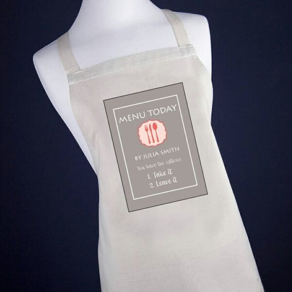 Personalised Apron – Take it or Leave it