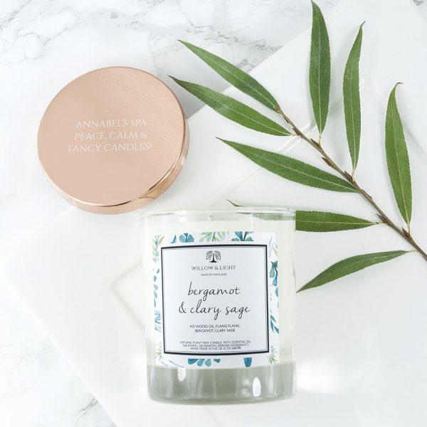 Personalised Bergamot & Clary Sage Candle