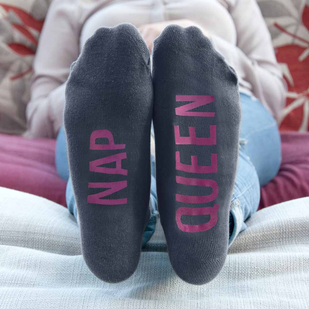 Personalised Socks (Charcoal & Hot Pink) – Your Message