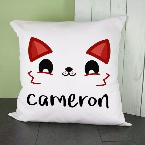 Personalised Cushion Cover – Cute Fox Eyes