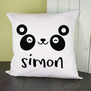 Personalised Cushion Cover – Cute Panda Eyes