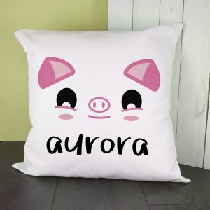 Personalised Cushion Cover – Cute Piggy Eyes