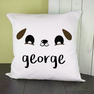 Personalised Cushion Cover – Cute Puppy Eyes
