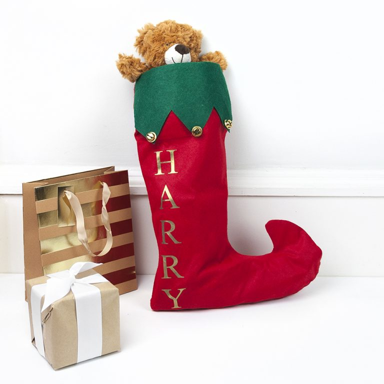 Personalised Christmas Stocking with Jingle Bells