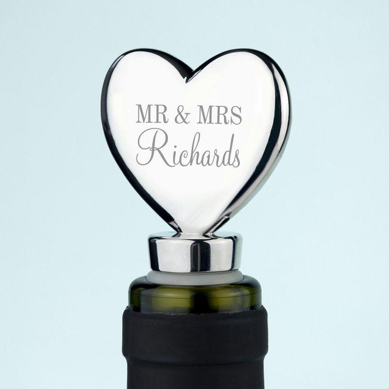 Personalised Heart Bottle Stopper