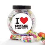 Personalised I Heart You Sweet Gift Jar