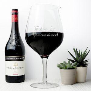 Personalised Jumbo Wine Glass