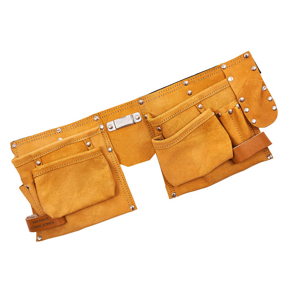 Personalised 11 Pocket Leather Tool Belt