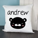 Personalised Cushion Cover – Little Bear